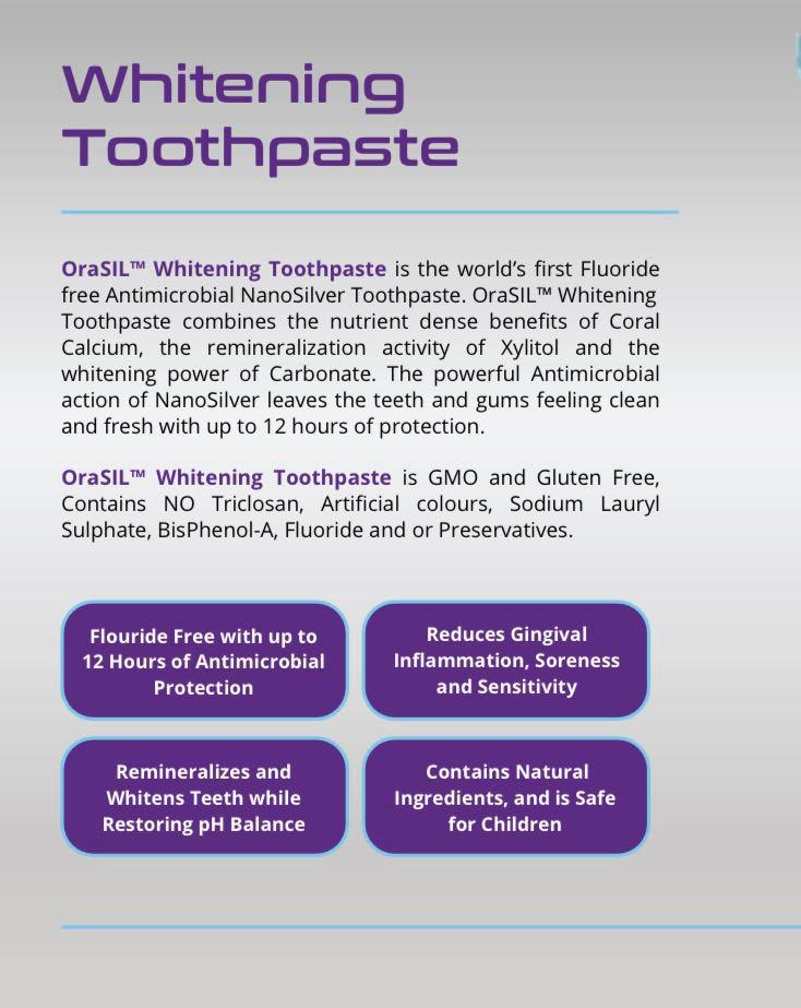 orasil whitening toothpaste