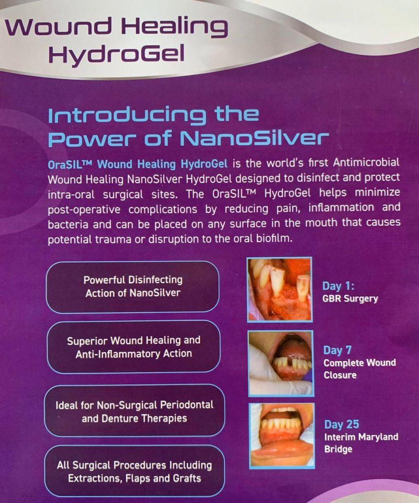 orasil wound healing hydrogel